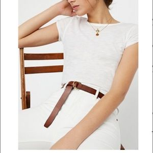 Free people skinny mini leather wrap belt